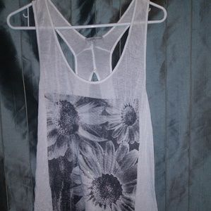 Black & White Sunflower Tank top